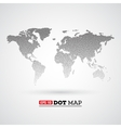 black dotted world map vector image