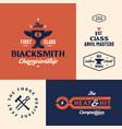 blacksmith championship abstract vintage vector image vector image