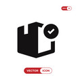 box with checked icon vector image vector image