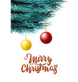 christmas fluffy tree template vector image vector image