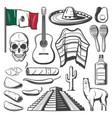 cinco de mayo mexican holiday fiesta party sketch vector image vector image