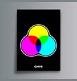 cmyk color model poster for flyer brochure cover vector image vector image
