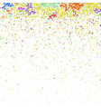 colored confetti pattern vector image
