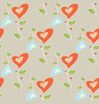 colorful flowers in the shape of a heart romantic vector image vector image