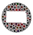 covid19 virus stencils circle south dakota state vector image vector image