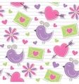cute romantic pattern vector image vector image