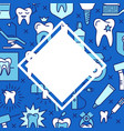 dental clinic banner template in colored line vector image vector image