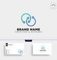 digital infinity network logo template icon vector image vector image