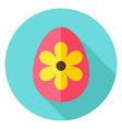 Easter Egg with Big Flower Decor Circle vector image vector image