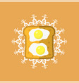 eggs and bread vector image vector image