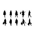 fashion woman silhouette set vector image vector image