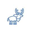 festive deer line icon concept festive deer flat vector image