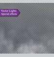 fog or smoke isolated transparent special effect vector image vector image