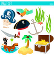 golden age pirate adventures toy vector image vector image