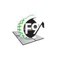 golf letter f 9 vector image