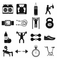 Gym icons set simple style vector image