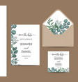 hand drawn wrdding eucalyptus vector image