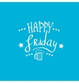happy friday background vector image vector image