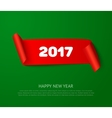 happy new 2017 year paper roll banner vector image vector image