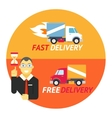 Happy Smiling Geek Businessman with Hourglass vector image vector image