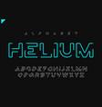 helium minimalist futuristic linear vector image