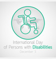 international day of persons with disabilities vector image