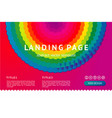 landing page with abstract geometric element web vector image
