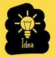 light bulb of the idea of a black and yellow vector image