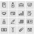 line business icon set vector image vector image