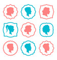 male and female head silhouettes avatars people vector image vector image