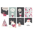 merry christmas cards and icons vector image