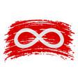 metis red flag flag in grunge brush stroke vector image vector image
