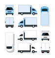 mini truck blue and white vector image vector image
