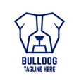 modern dog bulldog logo vector image vector image