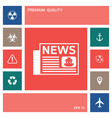 newspapers icon symbol elements for your design vector image