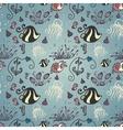 Ornate Sea Seamless Pattern vector image