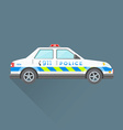 police emergency service car vector image