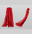 red cloaks set silk flattering capes design vector image vector image