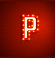 retro style letter p vector image vector image