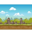 Seamless cartoon park landscape vector image vector image