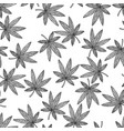 seamless pattern background marijuana vector image