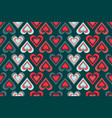 seamless pattern of multicolored outlines of heart vector image