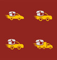 set collection car delivery logo vector image vector image