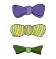 Set of colorful bow tie in different colors vector image vector image