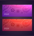 set of colorful happy diwali banners vector image vector image