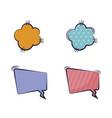 set of speech bubbles comic pop art vector image