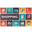 shopping - modern flat design icons set vector image