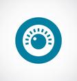 sound control icon bold blue circle border vector image vector image