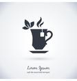 Tea cup logo vector image vector image