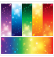 Template card colorful element design vector image vector image